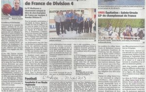 2013-06-22 - Le FCM vice-champion de France (L'Alsace)