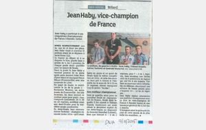 2015-11-07 - Jean HABY vice champion de France (DNA)